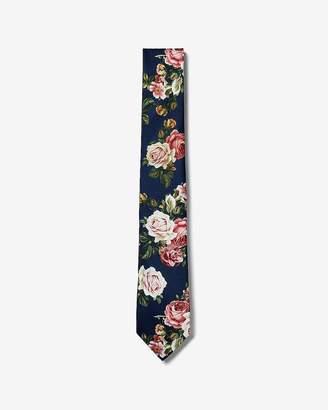 Express Narrow Floral Print Tie