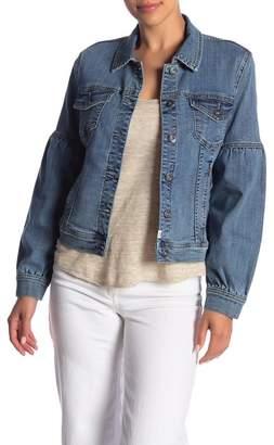 Melrose and Market Blouson Sleeve Denim Jacket