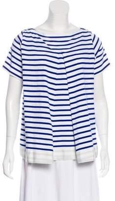 Sacai Stripe Short Sleeve Top w/ Tags