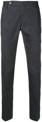 Entre Amis slim fit pinstripe trousers
