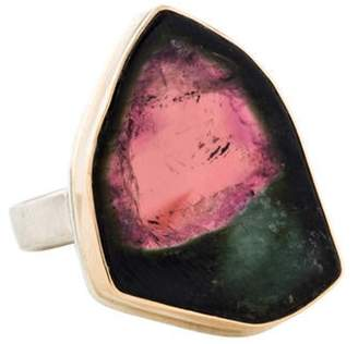 Jamie Joseph Watermelon Tourmaline Cocktail Ring silver Watermelon Tourmaline Cocktail Ring