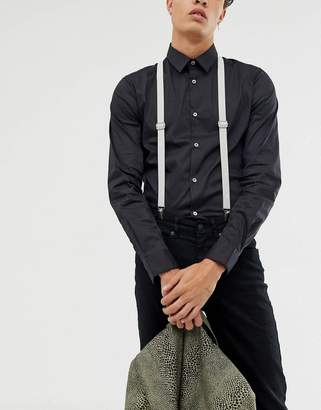 Twisted Tailor suspenders in light gray