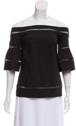 MICHAEL Michael Kors Off-The-Shoulder Eyelet Top w/ Tags