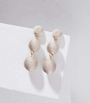 LOFT Fabric Ball Drop Earrings