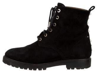 Aquazzura Suede Ankle Boots Black Suede Ankle Boots