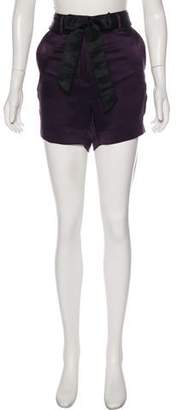 Haider Ackermann Satin Mini Shorts