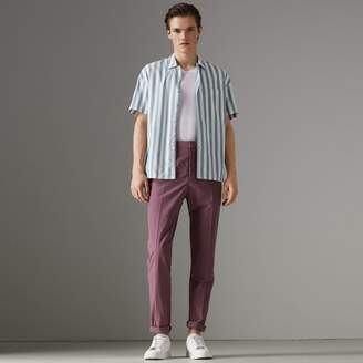 Burberry Short-sleeved Striped Cotton Shirt