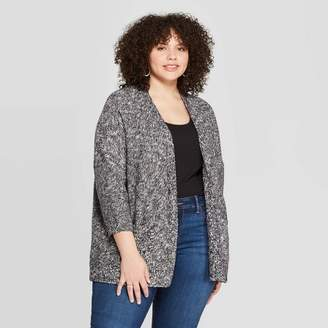 Universal Thread Women's Plus Size 3/4 Sleeve Open Layering Kimono Cardigan - Universal ThreadTM