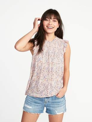 Old Navy Smocked Floral Flutter-Sleeve Blouse for Women