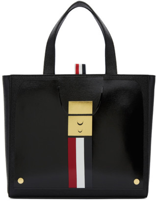 Thom Browne Black Trompe L'Oeil Mini Mrs. Thom Jr. Tote $1,290 thestylecure.com