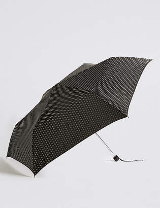 Marks and Spencer Spotted Compact Umbrella with Stormwear