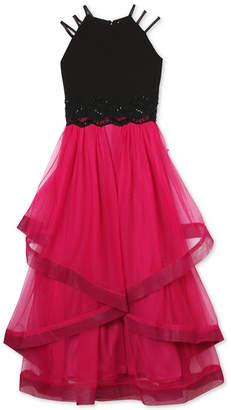 Speechless Big Girls Triple-Strap Embellished Lace Dress