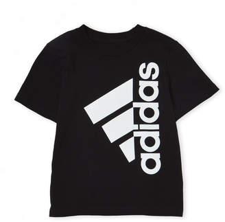 adidas Boys 4-7) Logo Print Short Sleeve Tee