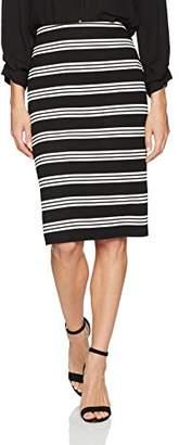 Adrianna Papell Women's Stripe Knit Pencil Skirt