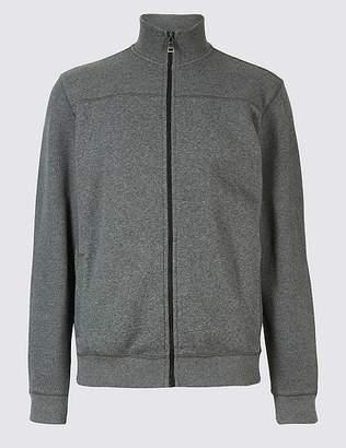 Marks and Spencer Cotton Funnel Neck Regular Fit Jacket
