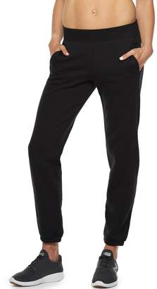 Tek Gear Petite Fleece Banded Bottom Mid-Rise Sweatpants