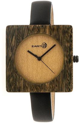 Earth Teton Collection ETHEW3904 Unisex Wood Watch with Leather Strap $125 thestylecure.com