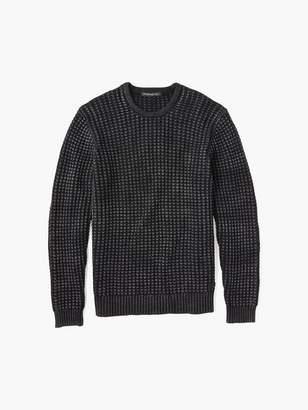 John Varvatos Waffle Crewneck Sweater