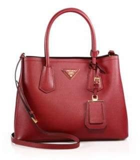 Prada Saffiano Cuir Small Double Bag
