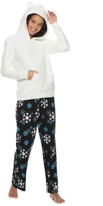 969a8dd415 So Juniors  SO Sherpa Bear Hoodie   Pants Pajama Set