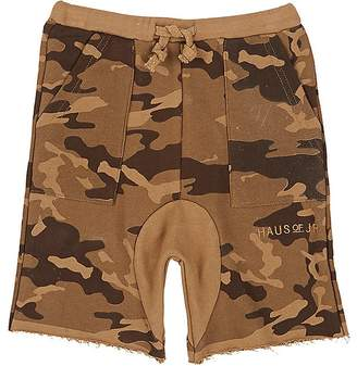 Haus of JR Kids' Howard Camouflage Cotton Terry Shorts