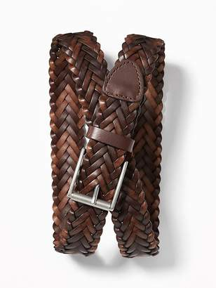 Old Navy Braided Faux-Leather Belt for Men