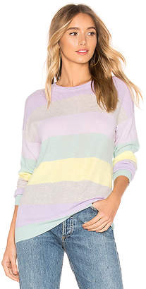 f1dc9d402e56a Autumn Cashmere Rainbow Stripe Boyfriend Sweater