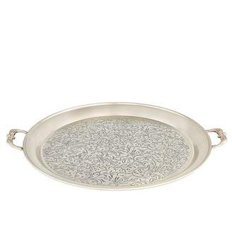 ODI HOUSEWARES Marrakesh Antique Pewter Etched Tray