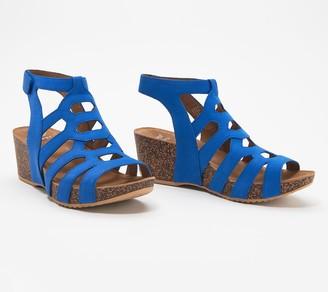 Dansko Nubuck Cutout Wedge Sandals - Selina