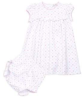 Kissy Kissy Baby Girl's Two-Piece Polka Dot Dress& Bloomer Set