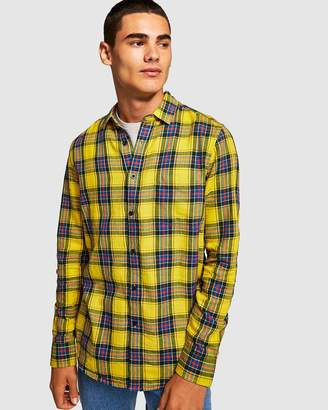 Topman Check Slim Shirt