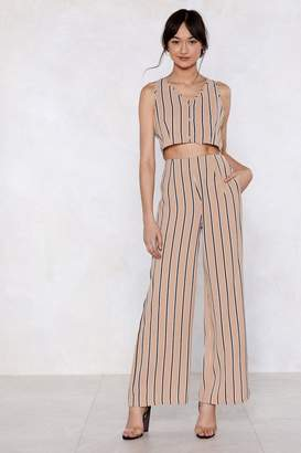 Nasty Gal Down the Line Striped Pants