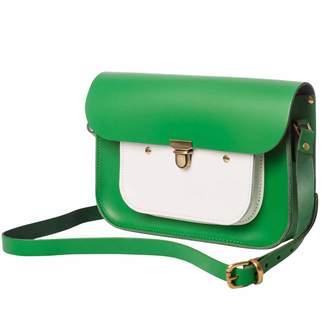 N'Damus London - Emerald & White Leather 11 Inches Mini Pocket satchel