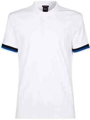 BOSS Stripe Trim Polo Shirt
