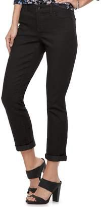 JLO by Jennifer Lopez Women's Cuffed Midrise Straight-Leg Ankle Jeans