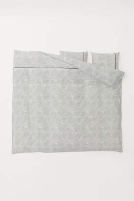 H&M Patterned Duvet Cover Set