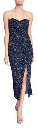 cb3367aaf8 LIKELY Ali Ruched Star-Print Ruffle Strapless Dress