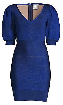 Herve Leger Women's Puff Sleeve Mini Dress