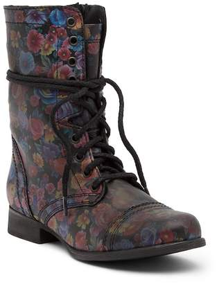 Steve Madden Troopa Floral Combat Boot