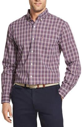 Izod Long Sleeve Plaid Button-Front Shirt