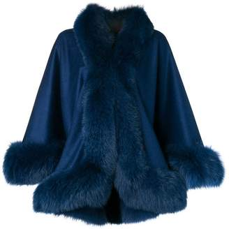 Liska fur-trimmed cape