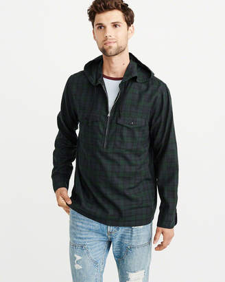 Abercrombie & Fitch Half-Zip Hooded Pullover
