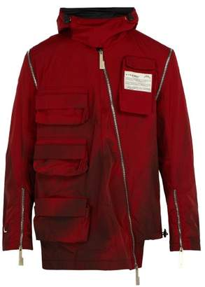 A-Cold-Wall* A Cold Wall* Cargo Visor Zip Sleeve Jacket - Mens - Red