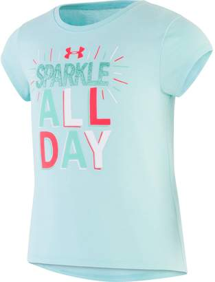 Under Armour Girls' Pre-School UA Sparkle All Day Short Sleeve