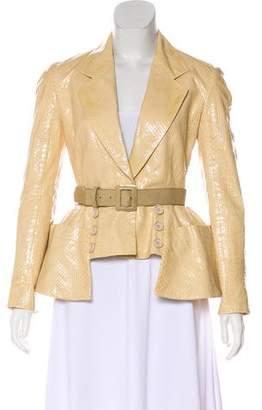 Christian Dior Belted Python Jacket