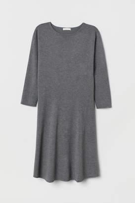 H&M Fine-knit Dress - Gray