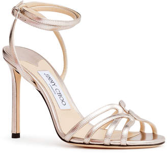 Jimmy Choo Metallic nappa sandals