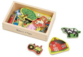 20 Wooden Farm Magnets