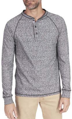 Faherty Men's Luxe Heather Organic Slub Henley Shirt