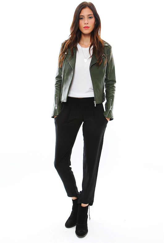 LnA Alexa Silk Pant in Black